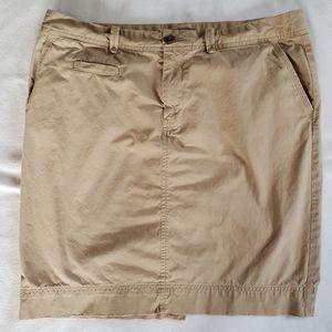 Womens GAP Size 14 Chino Khaki Tan Short Mini Skirt